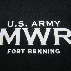 US Army MWR Security Bouncer T-Shirt LARGE Black